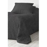 JOHANNA överkast - enkelsäng 180x260 cm Mörkgrå