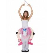 Disfraz de bailarina montada en unicornio adulto Única
