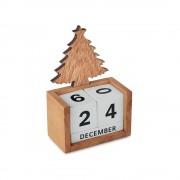 Calendar de masa de Craciun, Everestus, 9IA19384, Lemn, Natur, 2 bastonase gonflabile incluse