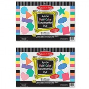 Melissa & Doug Jumbo Multi-Color Construction Paper Pads (12 x 18 inches) - 48 Sheets 2-Pack