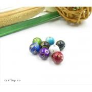 Mărgele rotunde cu linie aurie (100g)