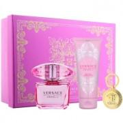 Versace Bright Crystal Absolu lote de regalo XII. eau de parfum 90 ml + leche corporal 100 ml + llavero