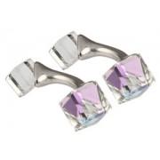 Mousie Bean Crystal Cufflinks Cubes 131 Vitrail Light
