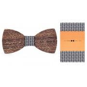 Dřevěný motýlek s kapesníčkem Gaira 709085