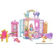 Set de joaca Mattel Barbie Dreamtopia - Castel si papusa