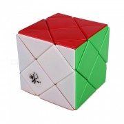 DaYan Dino Skewb Speed Cube Smooth Magic Cube Puzzles Toys Brain Teaser Educational Toy for Children Kids - Multicolor