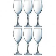 Luminarc 6x Witte wijnglazen transparant 350 ml