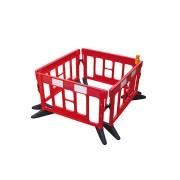 Červená plastová mobilní zábrana - délka 200 cm a výška 120 cm