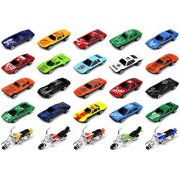Turbo Racers 25 Piece Diecast 1:64 Children's Kid's Toy Vehicle Playset w/ Variety of Vehicles