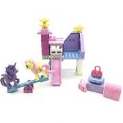 Emob Battery Operated Musical 35 Pcs Amusement Theme Park 3D Bricks Blocks Set Toy with 2 Pony (Multicolor)