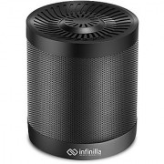 Portable Wireless Bluetooth Speaker Infinilla 4.0 Enhanced Bass Stereo Speakers for Home and Outdoor Built-in Microphone FM Radio 12 Hours Playtime (Black)