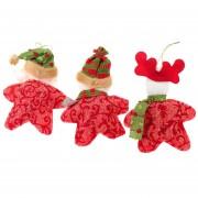 Linda Forma De Estrella Reno De Papá Noel Muñeco De Nieve Decoración Navideña Gran Árbol De Navidad Ornamento Colgante