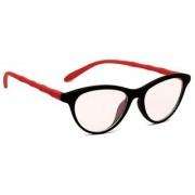 Blue-Tuff Unisex Cat-Eye Sunglass -Cat-eye-black-red