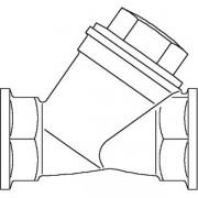 Oventrop Inregelafsluiter BRNS 1/2 DN15 PN25 Kvs = 388 m3/h binnendraad 1060304