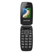 Multilaser Celular Flip Up Dual Chip MP3 Preto Multilaser - P9022 P9022