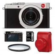 Leica D-Lux 7 Silver Startpaket (Röd väska)