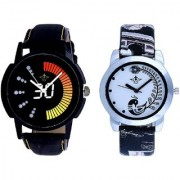 Race Speed And Black Leather Strap Analogue Watch By SCK