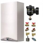 Pachet centrala termica in condensare Ariston CARES PREMIUM 24 EU 24 kW + Kit accesorii instalare centrala + Filtru anti-magnetita Fernox TF1