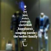 Nioworld Feliz árbol De Navidad Pegatinas De Pared Decoración Para El Hogar-Blanco