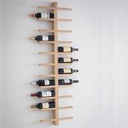 Wijnrek Hout - Deluxe 22 flessen - Groot wandmontage wijnrek - Eiken Hout - Houten
