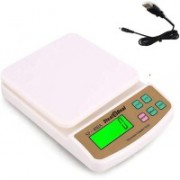 Stealodeal Compact SF 400A with Usb 10 kg Digital Multi-Purpose Kitchen Weighing Scale(White)