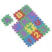 Alcoa Prime Mini-Sized Educational Colorful Foam Alphabet & Number Interlocking Puzzle A4A4