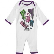 Converse - All Star Infant Body All-in-one, Alb/Mov