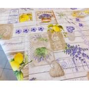 Kisvirágos kockás karton terítő, kék/Cikksz:01210256