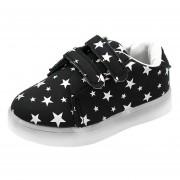Niño Toddler Zapatos LED Luminoso Niños-negro