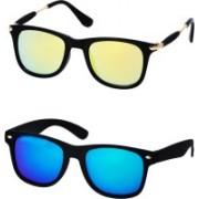 Stysol Wayfarer Sunglasses(Yellow, Blue)