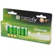Techly Blister 12 Batterie High Power Stilo AA Alcaline LR06 1,5V