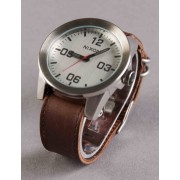 Nixon Corporal Watch - Silver/Brown Size: ONE SIZE, Colour: Silver/Bro
