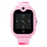 Ceas Inteligent pentru copii WONLEX KT13 4G Roz, cu GPS, apelare video, rezistent la apa, localizare WiFI si monitorizare spion