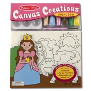 Melissa & Doug Canvas Creations - Princess, Multi Color