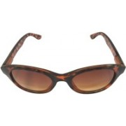 Devizer Optics Cat-eye Sunglasses(Brown)