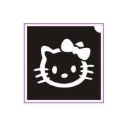Hello Kitty csillámtetoválás sablon (masnis)