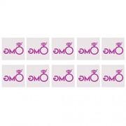 MagiDeal 10/set Glitter Purple Team Bride/Team Groom Wedding Bachelorette Temporary Tattoos Stickers Decor - omg