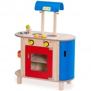 Wonderworld Cooking Centre Wood Blue and Red HOUT192443