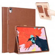 For iPad Pro 12.9-inch (2018) Vintage PU Leather Protection Smart Tablet Case Cover - Brown