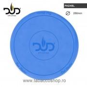 Suport rotund din silicon DUD Blue 250mm pentru narghilea