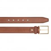 The Bridge Cintura Uomo in Pelle Marrone con Fibbia Oro h 3,5cm 110cm linea Brunelleschi Made in Italy