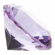 Merkloos Lila paarse nep diamant 5 cm van glas
