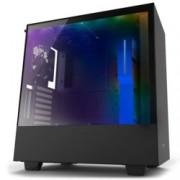 Кутия NZXT H500i CA-H500W-BL, ATX/mATX/mini-ITX, 2x USB 3.1 Gen1, страничен прозорец от закалено стъкло, черна, без захранване