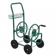 Количка за градински маркуч [pro.tec]® XL 83 x 48 x 92cm, с кошница