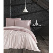Set cuvertura, EnLora Home, bumbac, 240 x 260 cm, 162ELR9486, Roz