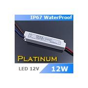 LED tápegység , 12 Volt , 12 Watt , 1A , kültéri , IP67 , Platinum