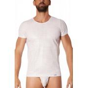 Lookme Tender Openwork Vinyl Short Sleeved T Shirt White 811-81