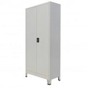 vidaXL Uredski Ormar s 2 vrata Čelik 90x40x180 cm Sivi