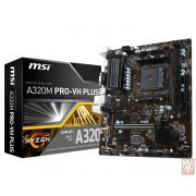 MSI A320M PRO-VH PLUS, AMD A320, VGA by CPU, 1xPCI-Ex16, 2xDDR4, VGA/HDMI/USB3.1(Gen1), mATX (Socket AM4)