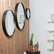 White Label Living Spiegel Raj - Zwart